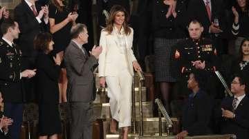 Първата дама на САЩ пристигна отделно от съпруга си за неговата реч