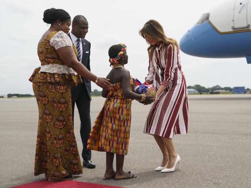 снимка 1 Мелания Тръмп е на първо самостоятелно посещение в чужбина
