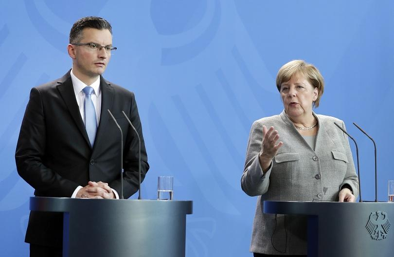 Германският канцлер Ангела Меркел заяви днес след среща със словенския