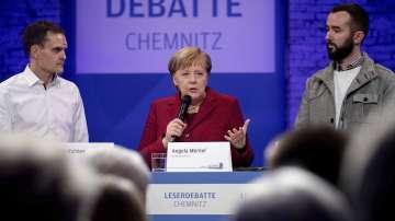 Меркел призна за грешки в бежанската политика при посещението си в Кемниц