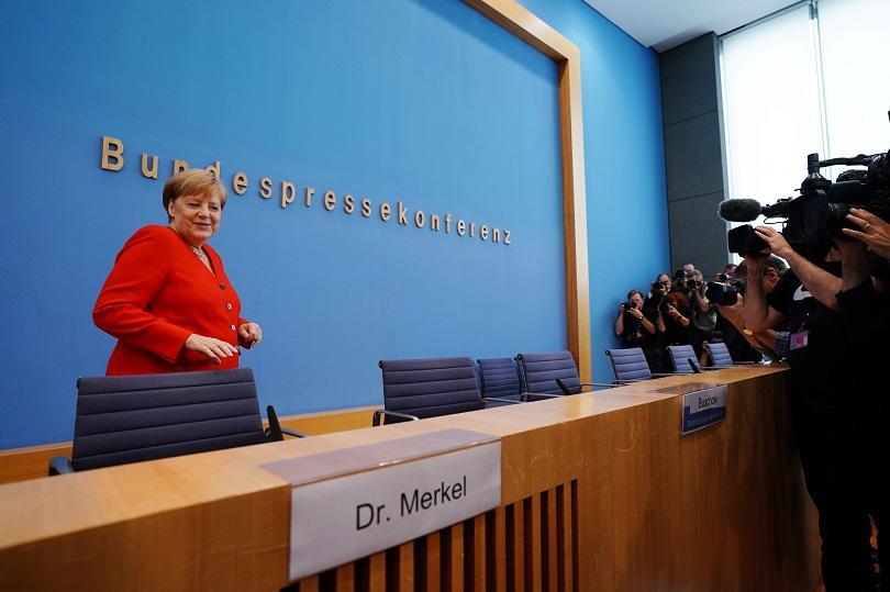 На последната си пресконференция преди лятната ваканция, германският канцлер Ангела