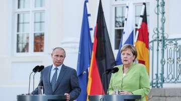 Путин и Меркел са обсъдили транзита на газ през Украйна