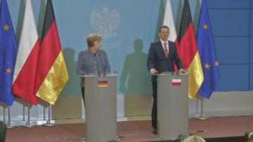 Германският канцлер Ангела Меркел посети Полша