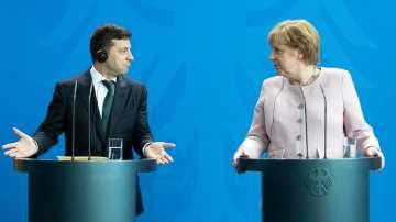 Ангела Меркел се срещна с Володимир Зеленски в Берлин