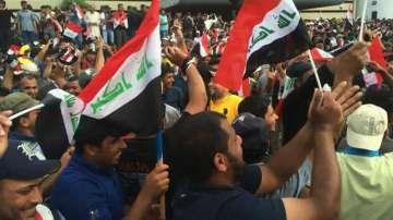 Протест пред турското посолство в Багдад