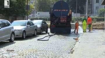 Мият улиците на София за четвърти път тази година