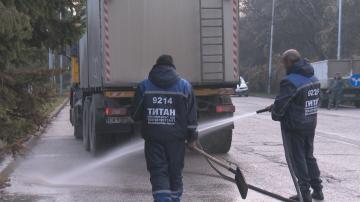 Започна миенето на улици в София