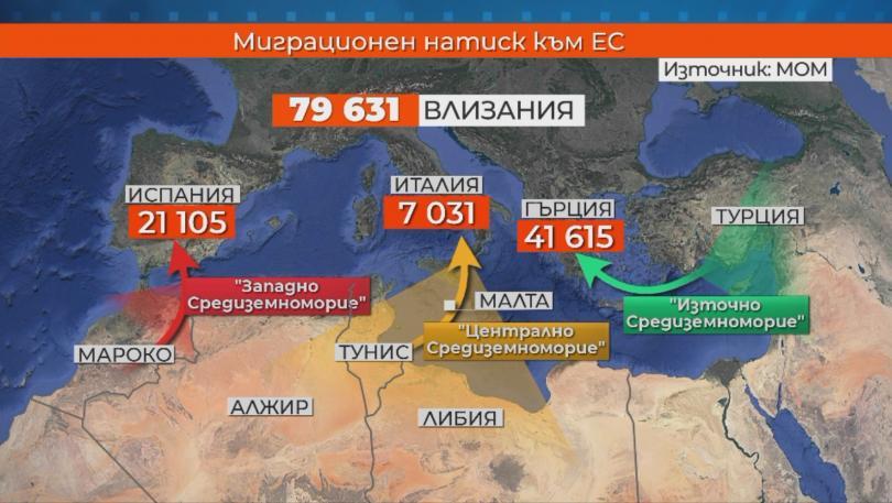 снимка 1 Миграционният натиск към България се увеличава