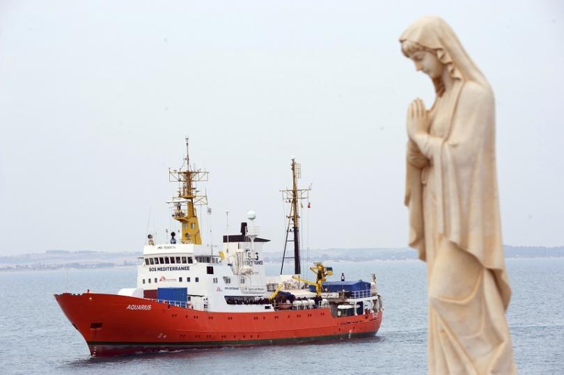 """""""Акуариус"""" беше последният спасителен кораб, действащ край бреговете на Либия."""