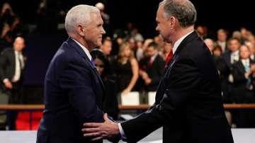 Тим Кейн срещу Майк Пенс в първия дебат на кандидатите за вицепрезидент на САЩ