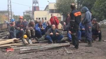 Миньори от Черно море излязоха на протест заради неизплатени обещетения