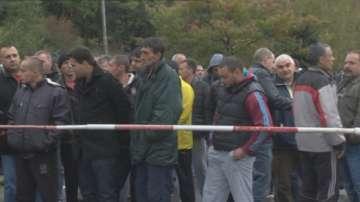 Миньорите от рудник Бабино продължават протеста си