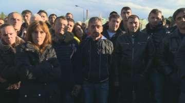 Протестът на миньорите от рудник Бабино продължава