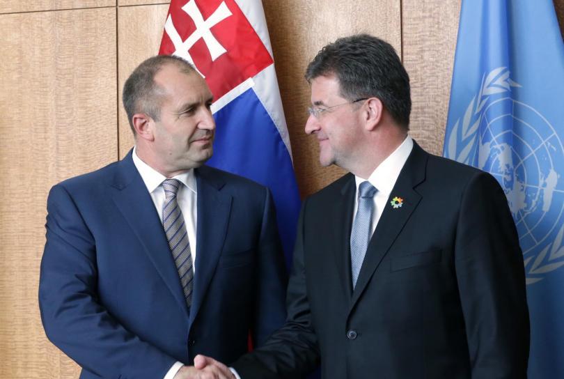 румен радев срещна председателя общото събрание оон мирослав лайчак
