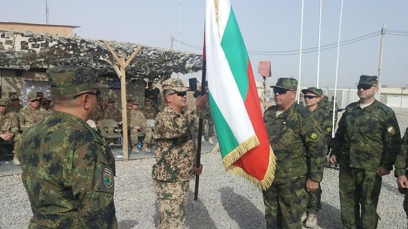 На официална церемония в Кандахар, Афганистан 36-ят български военен контингент