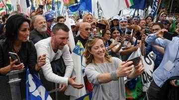 Хиляди поддръжници на Матео Салвини се събраха на митинг в Рим