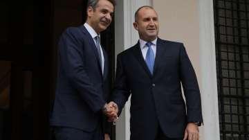 Президентът Румен Радев се срещна с гръцкия премиер Кириакос Мицотакис в Атина
