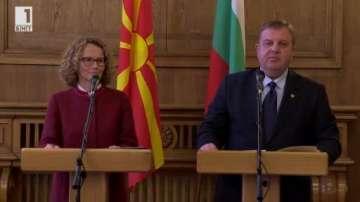 Договорихме с Македония задълбочаване на военното сътрудничество