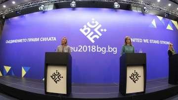 Съвместна пресконференция на Федерика Могерини и Екатерина Захариева