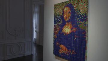 Мона Лиза от Рубик кубчета на търг