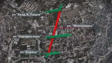 Отново затвориха част от ул. Монтевидео в София за ремонт
