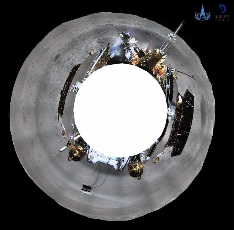 Снимка: Чанъе-4 изпрати панорамни снимки от обратната страна на Луната
