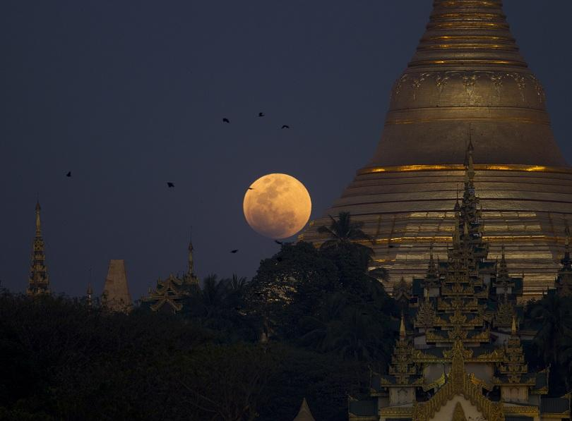 """снимка 11 Феноменът """"Супер синя кървава Луна"""" в снимки"""