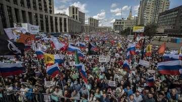 Многохиляден протест на опозицията в Москва