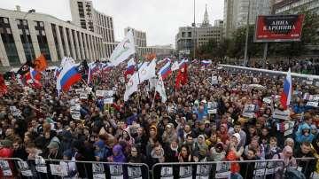 Десетки хиляди излязоха на опозиционен протест в Москва