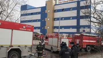 Пожар в търговски център за детски стоки в Москва
