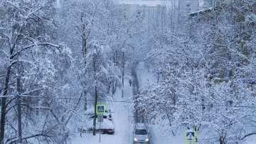 Сняг и студ сковаха Русия (СНИМКИ / ВИДЕО)