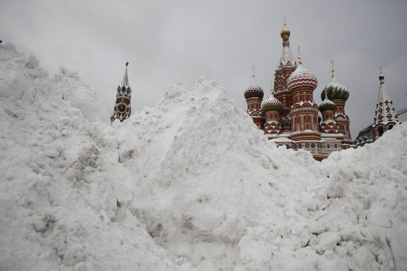 снимка 5 Сняг и студ сковаха Русия (СНИМКИ / ВИДЕО)