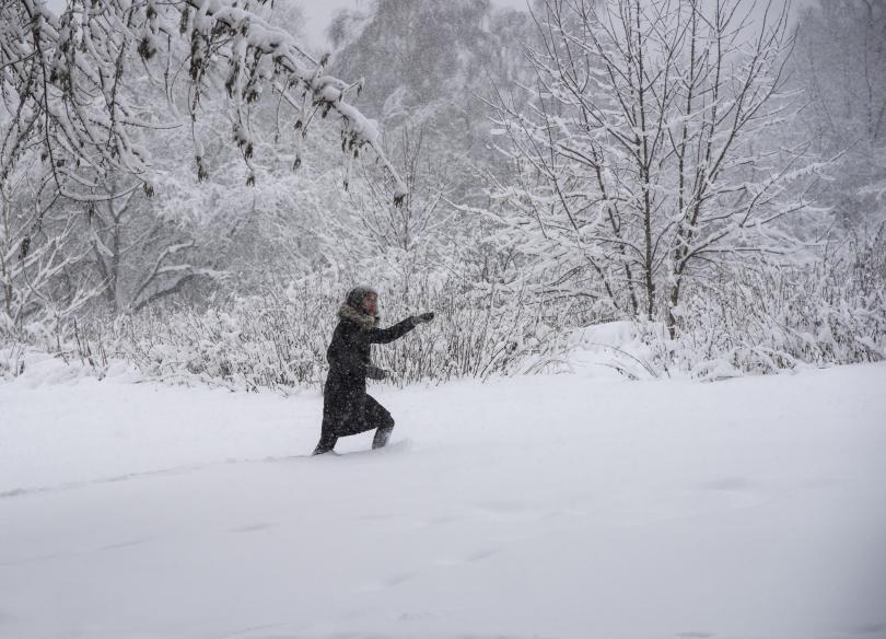 снимка 4 Сняг и студ сковаха Русия (СНИМКИ / ВИДЕО)