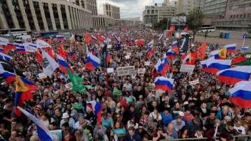 Масов протест на опозицията в Москва