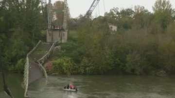 Срути се висящ мост край Тулуза