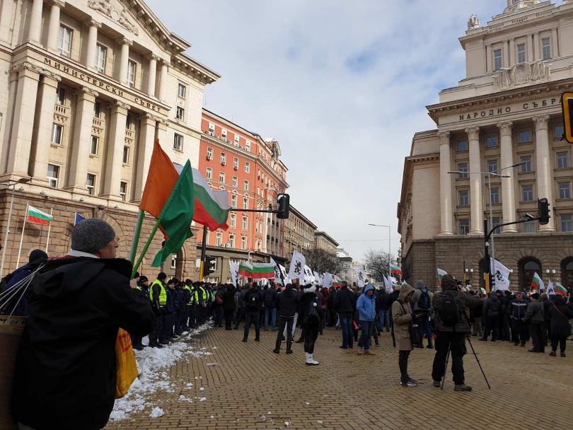 снимка 2 Протест блокира днес ключови кръстовища в столицата