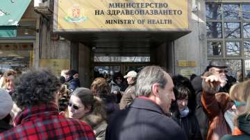 Протест на лекари и здравни инспектори