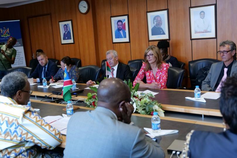 снимка 1 Първа визита на български външен министър в Намибия