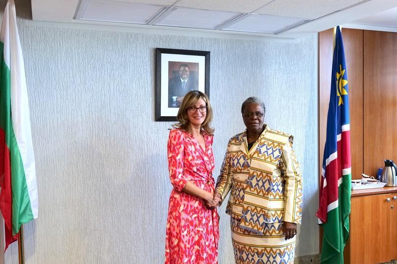 Вицепремиерът Екатерина Захариева представи възможностите за бизнес между Намибия и