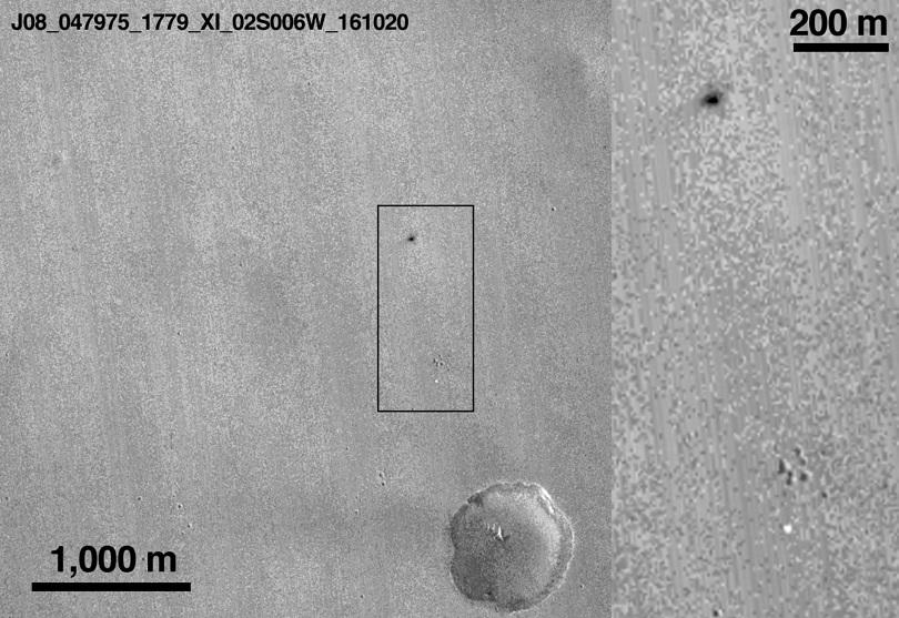 НАСА разпространи снимки на кратера, направен от Скиапарели на Марс