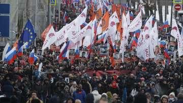 Шествие в памет на убития руски опозиционер Борис Немцов