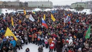 Хиляди се включиха в шествието в памет на Борис Немцов