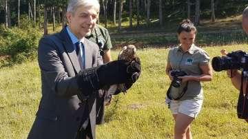 Екоминистърът Нено Димов освободи диви птици в природата