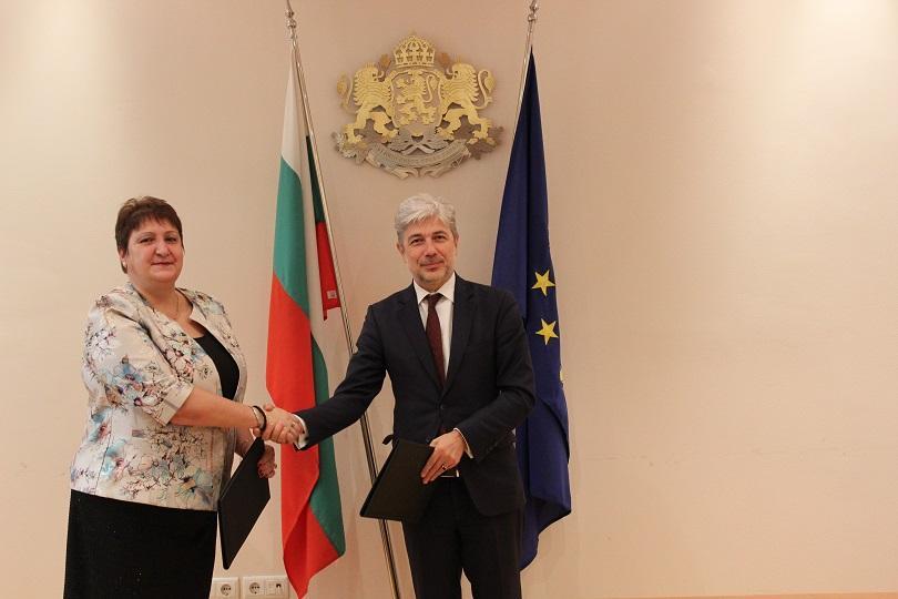 Министърът на околната среда и водите Нено Димов и изпълняващият