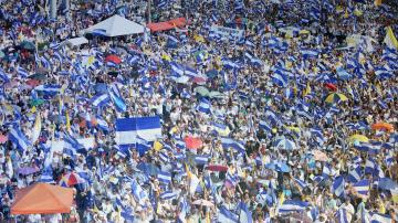 На голям митинг в Никарагуа поискаха оставката на президента Ортега