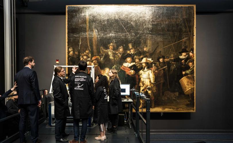 Холандски спeциалисти започнаха мащабна реставрация на шедьовъра на Рембранд Нощна