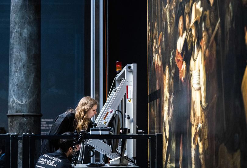 снимка 1 Реставрират шедьовъра на Рембранд Нощна стража