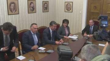 БСП и ГЕРБ на консултации при президента Радев