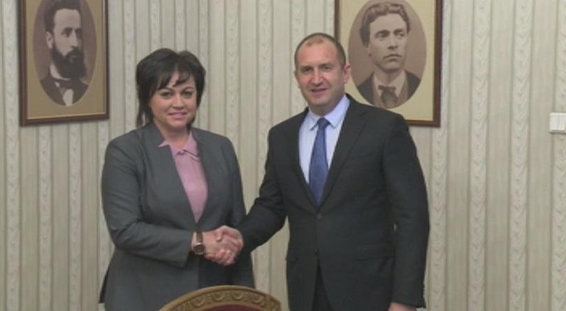 снимка 1 БСП и ГЕРБ на консултации при президента Радев