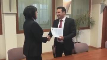 Нинова обсъди с македонския премиер двустранните отношения България - Македония
